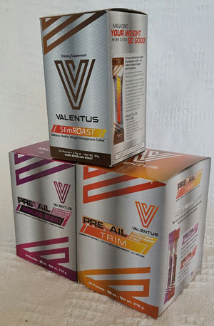 A 3 box set, one of SlimROAST coffee, One of Prevail Trim and one of Prevail Immune Boost to make up the Valentus 12in24 Plan Set